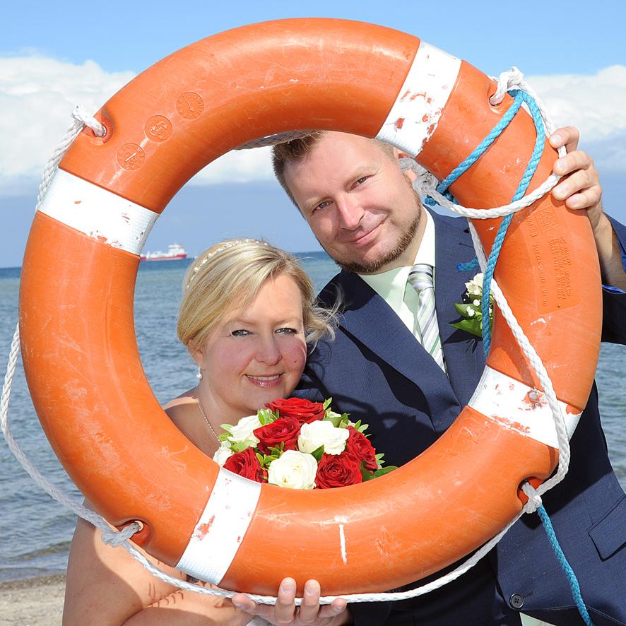 Hochzeitsfoto, Laboe