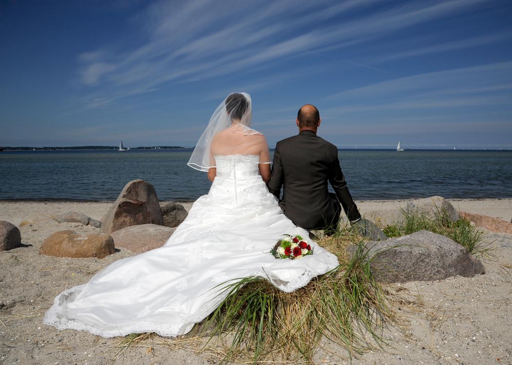 Hochzeitsfoto Laboer Strand