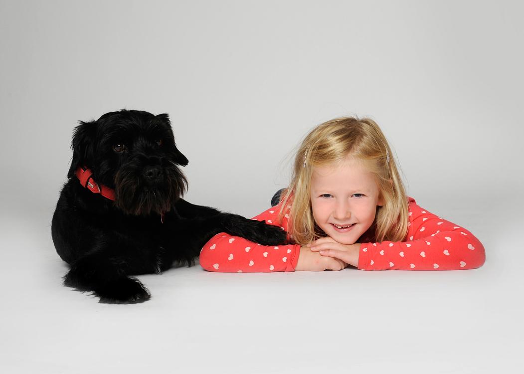 Kinderfoto, Tierportrait